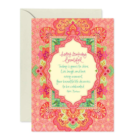 Intrinsic Birthday Beautiful Greeting Card