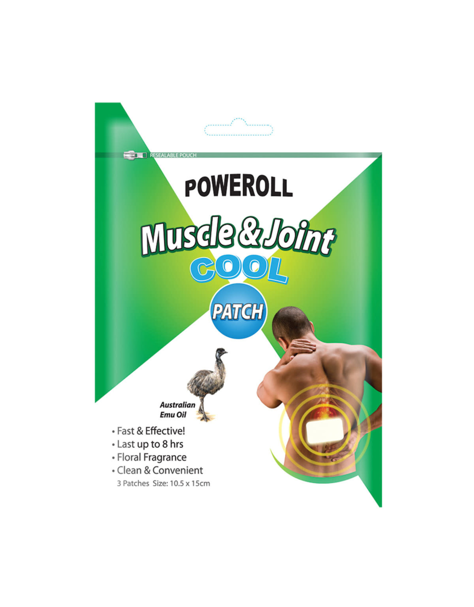 Glimlife Poweroll Muscle and Joint Patch Cool x 3pk