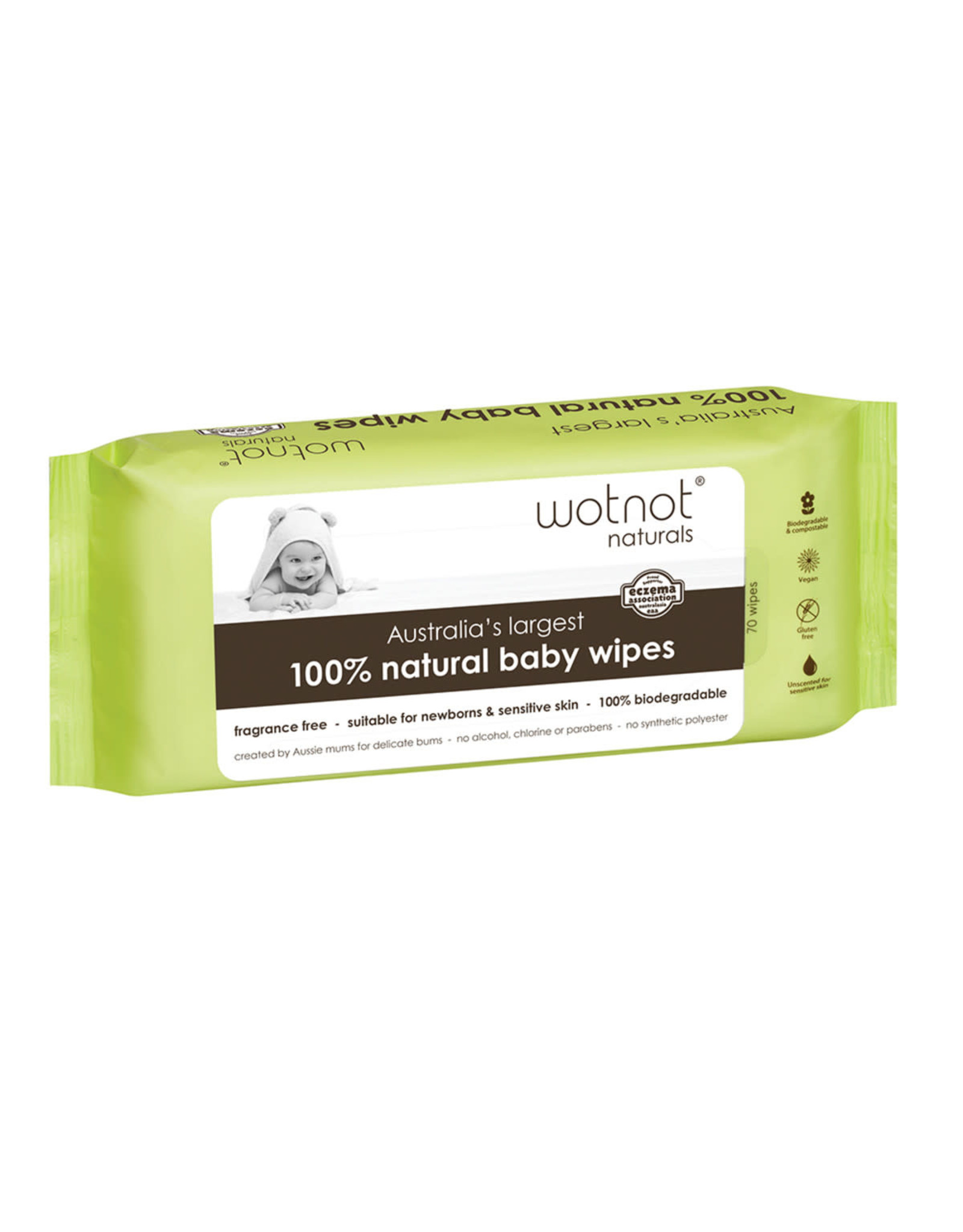 Wotnot Baby Wipes Biodegradable 70's
