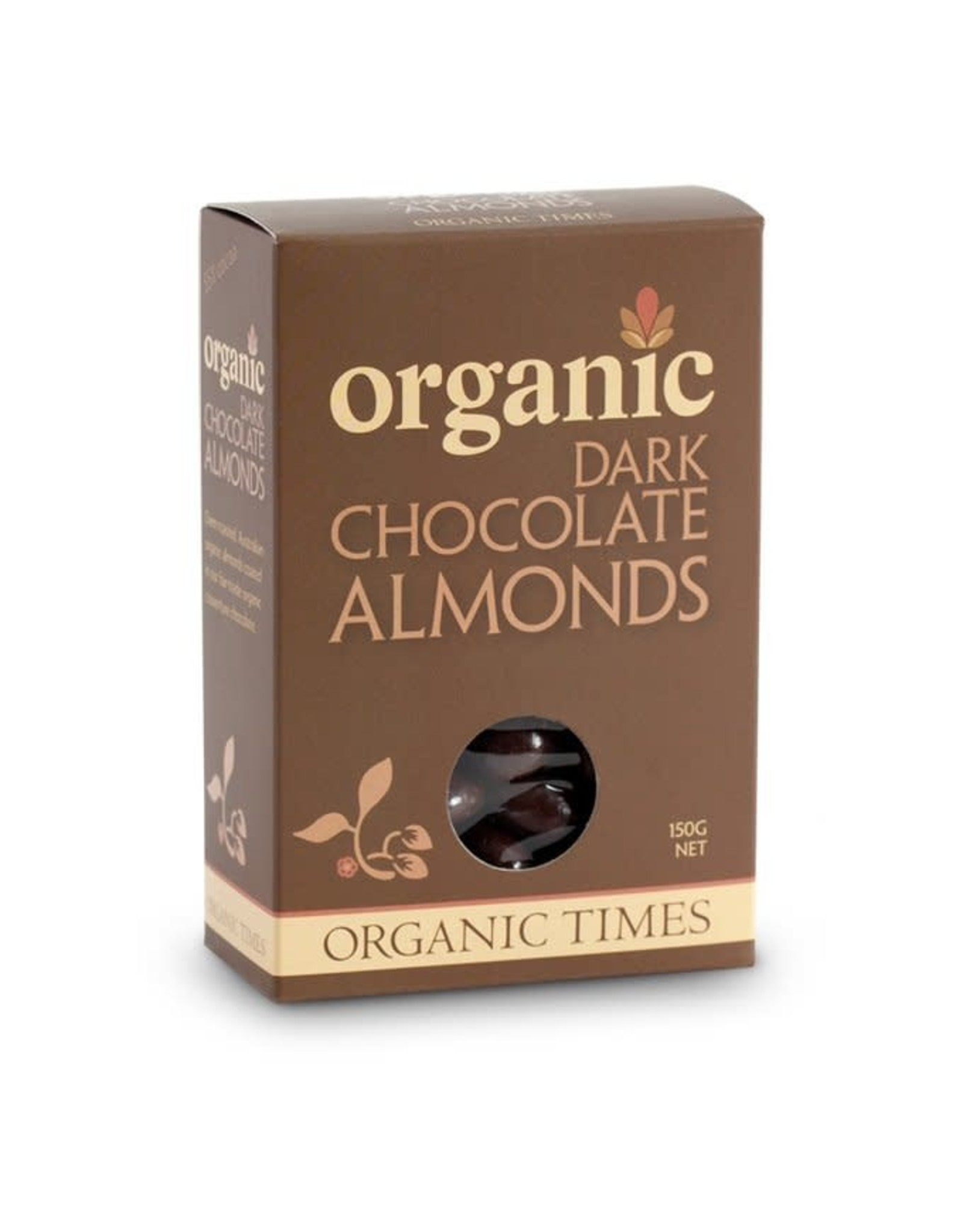 Organic Times Dark Chocolate Almonds 150g