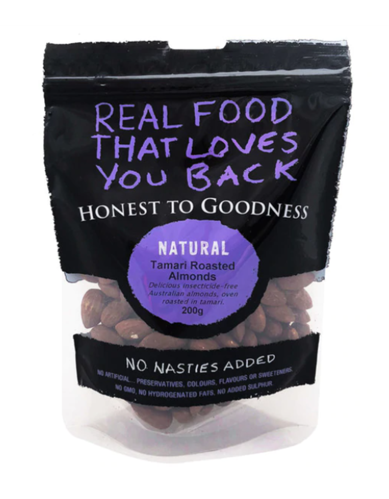 Honest To Goodness Tamari Roasted Almonds 200g