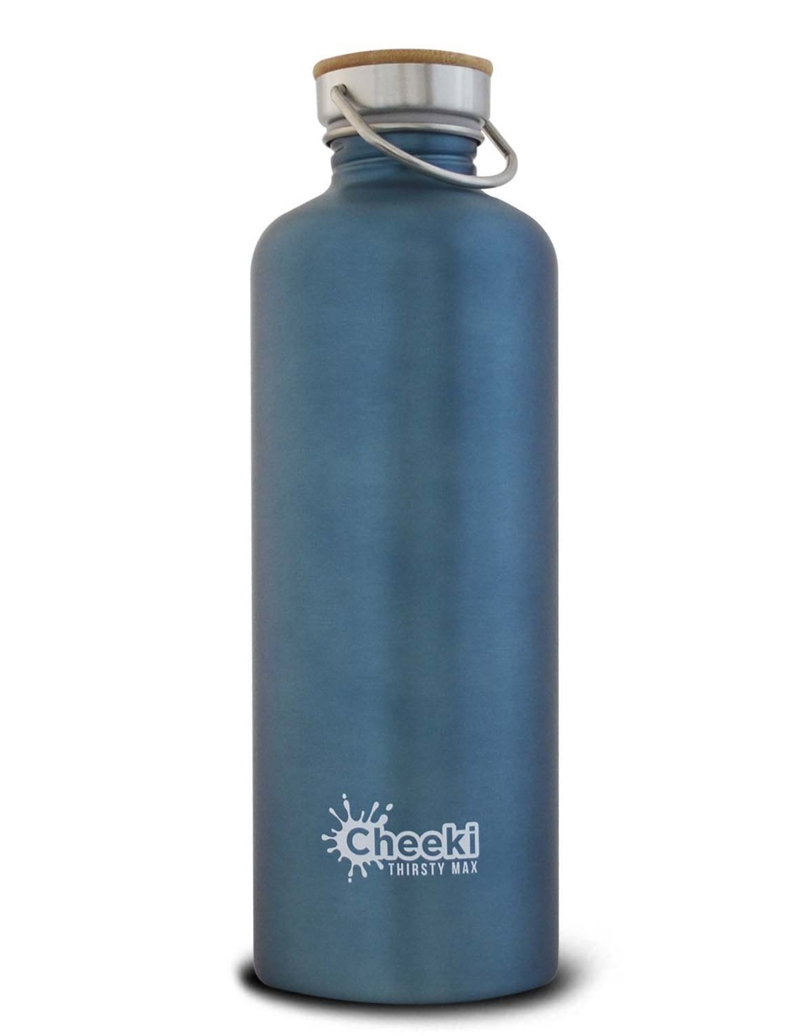 Cheeki Stainless Steel Water Bottle - 'Thirsty Max' - Teal - 1.6L