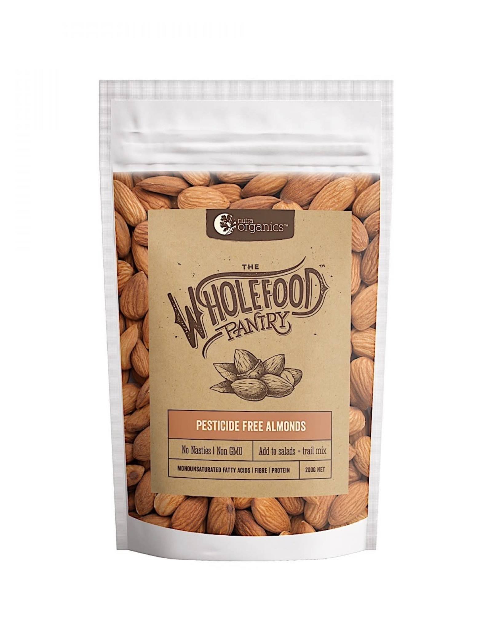 The Whole Food Pantry Pesticide Free Almonds - 200g