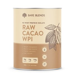 Bare Blends Raw Cacao Whey Protein Isolate 500g