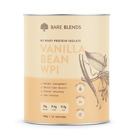 Bare Blends Vanilla Bean Whey Protein Isolate 500g