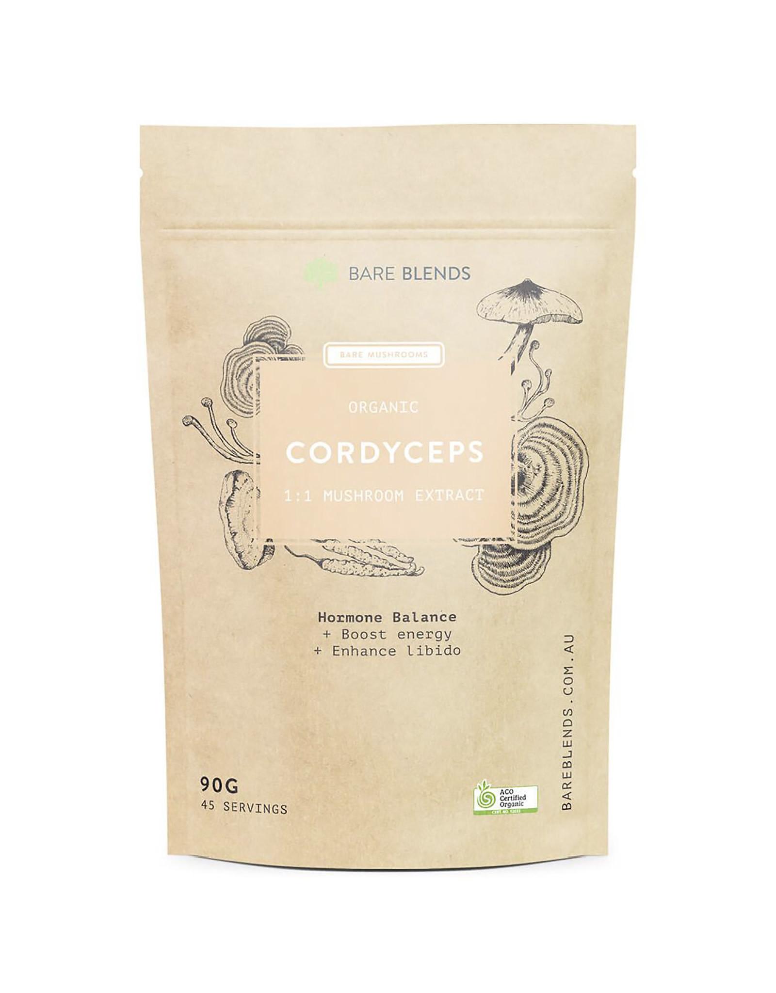 Bare Blends Cordyceps Mushroom Extract - Organic - 90g