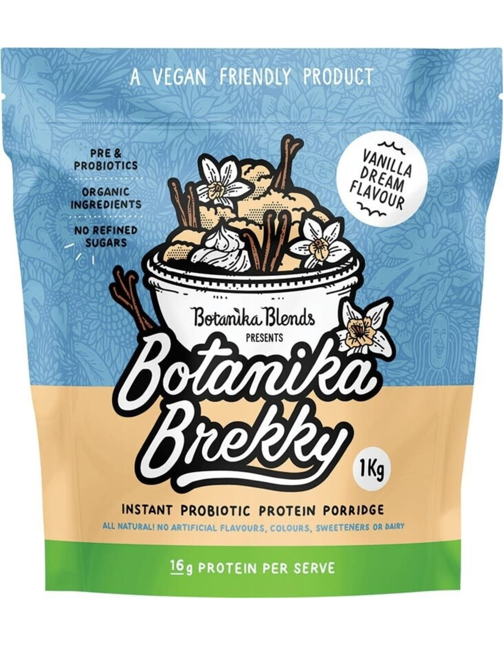 Botanika Brekky Probiotic Porridge - Vanilla Dream - 1kg