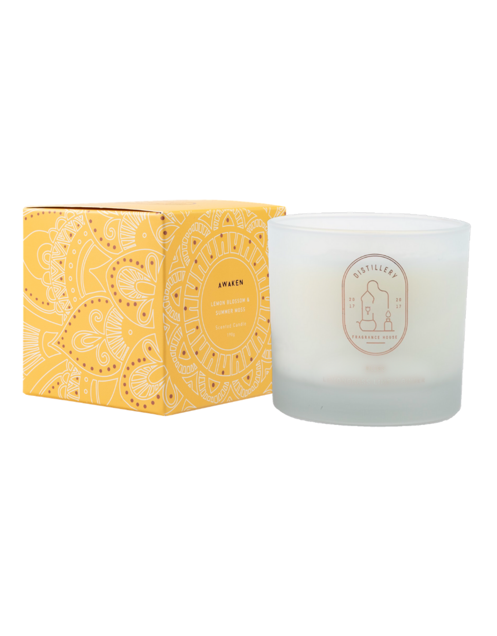 Distillery Fragrance House Soy Candle - Lemon Blossom & Summer Moss