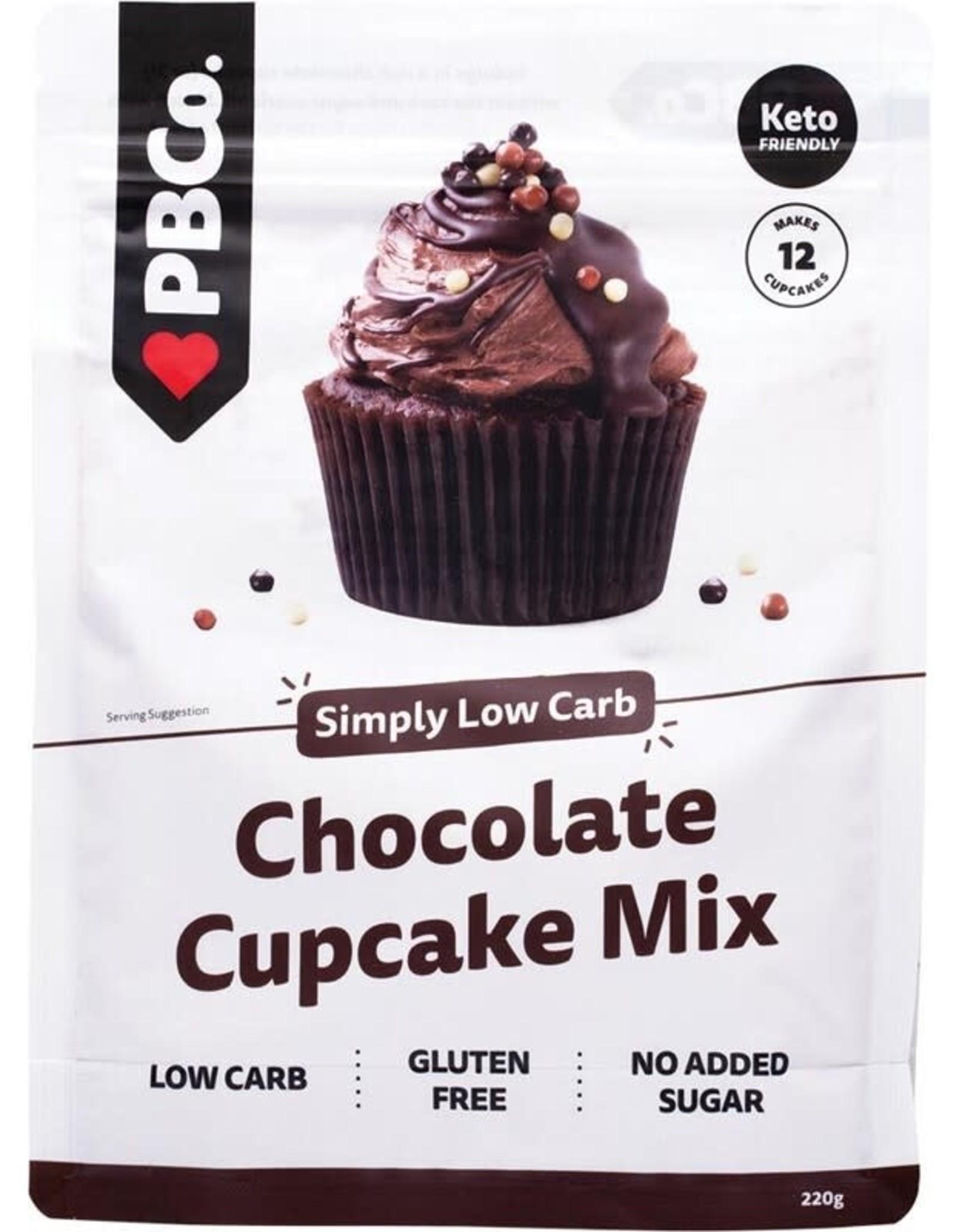 PBCO Low Carb Chocolate Cupcake Mix 220g