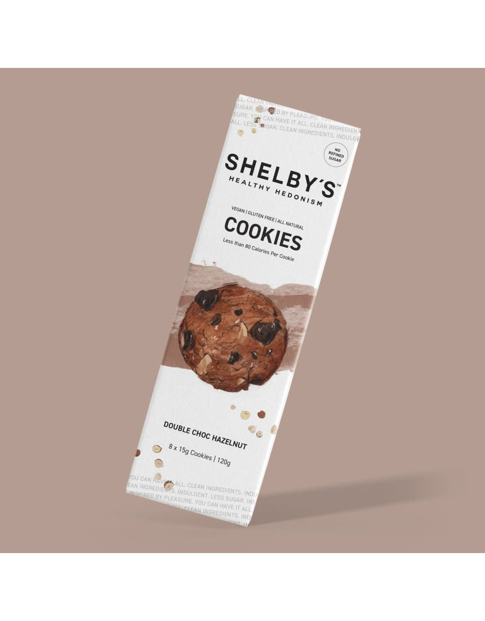 Shelby's Healthy Hedonism Double Choc Hazelnut Cookies 120g