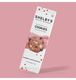 Shelby's Healthy Hedonism Raspberry & White Choc Cookies 120g