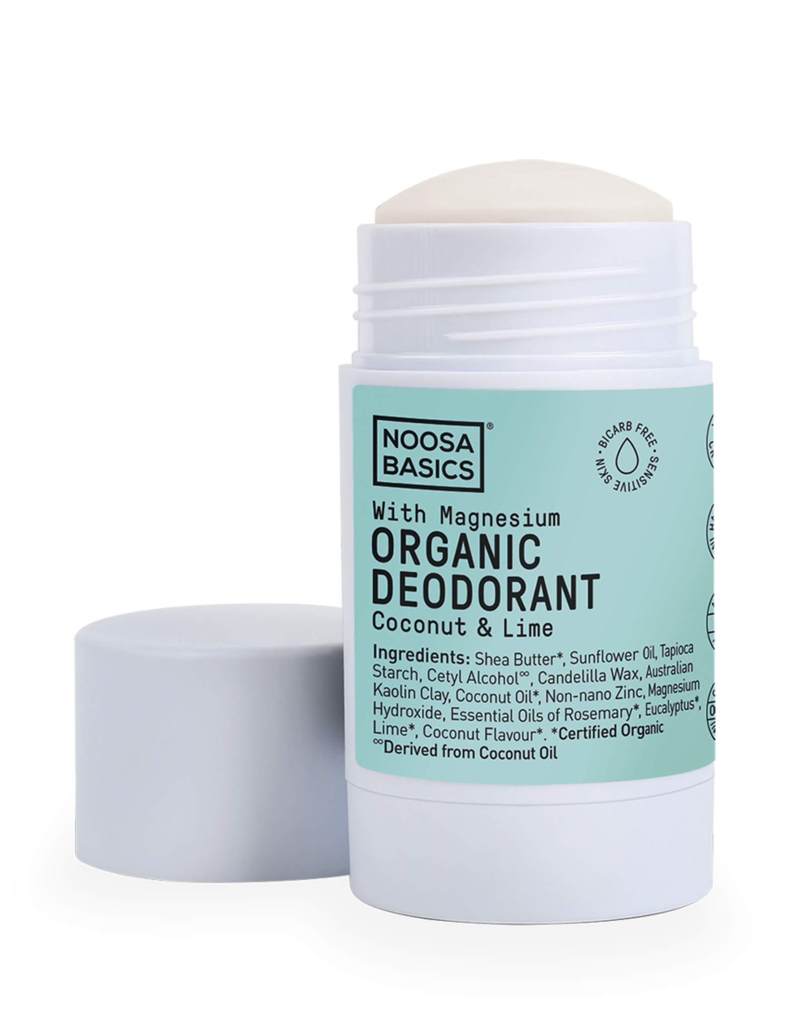 Noosa Basics Deodorant Stick with Magnesium - Coconut & Lime 60g