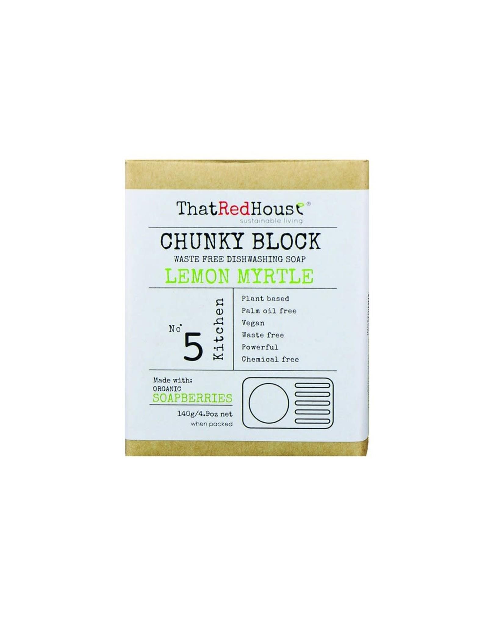 That Red House Chunky Block Dishwashing Soap Lemon Myrtle - 140g