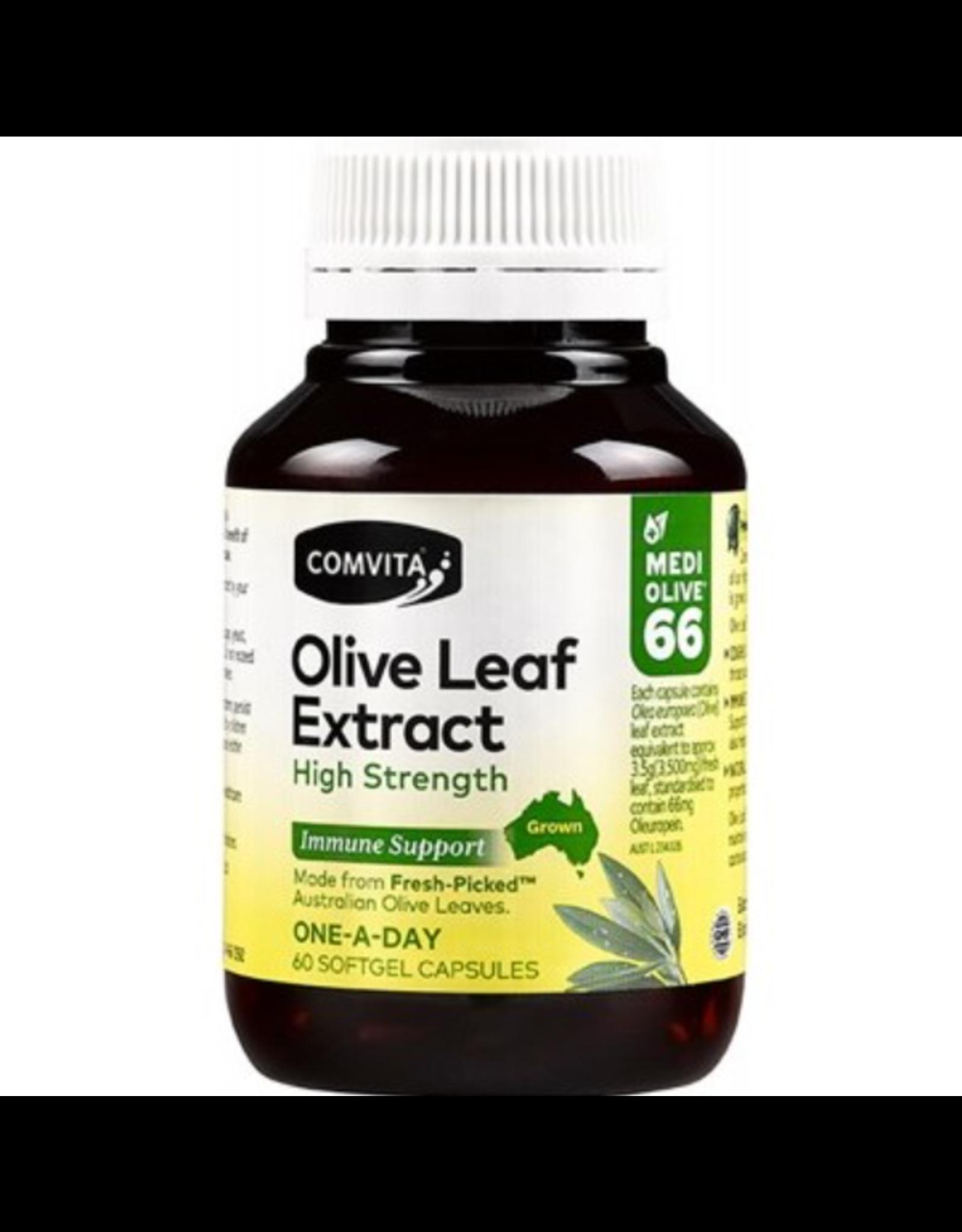 Comvita Olive Leaf Extract  Capsules (Medi Olive 66) 60c