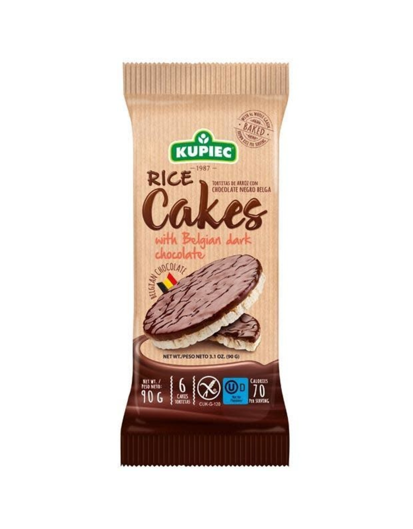 Kupiec Rice Cakes with Dark Chocolate - 90g