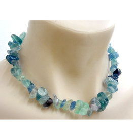 Silverstone Crystal Chip Necklace - Fluorite - Chunky
