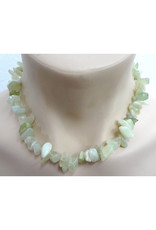Silverstone Crystal Chip Necklace - New Jade - Chunky