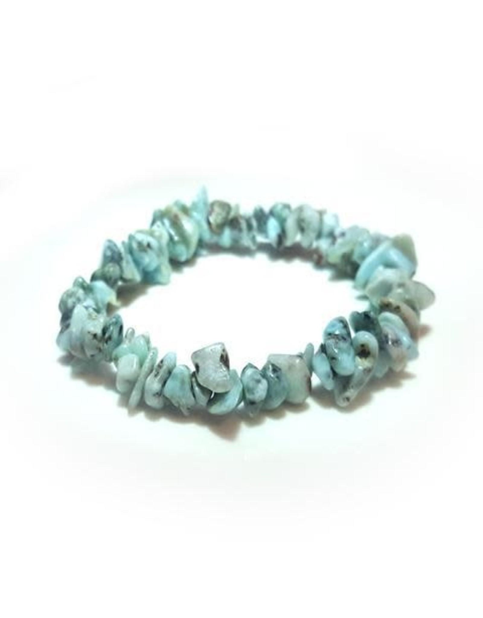 Silverstone Crystal Chip Bracelet - Larimar