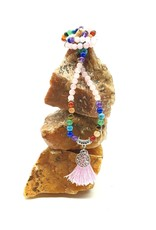 Silverstone Mala Necklace - Chakra & Rose Quartz - Tree of Life