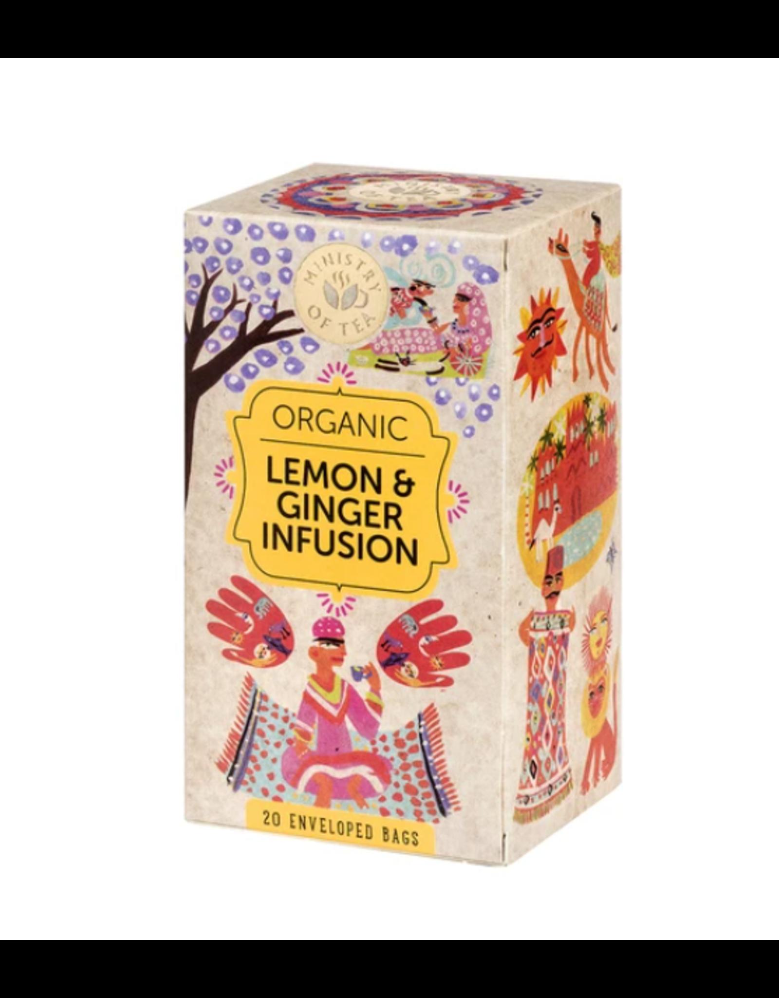Ministry Of Tea Lemon & Ginger Infusion - 20 Tea Bags
