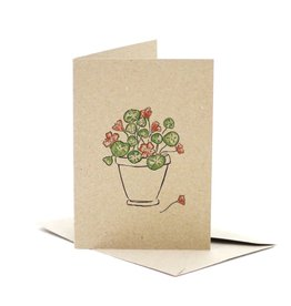 Deer Daisy Nasturtium Love Greeting Card