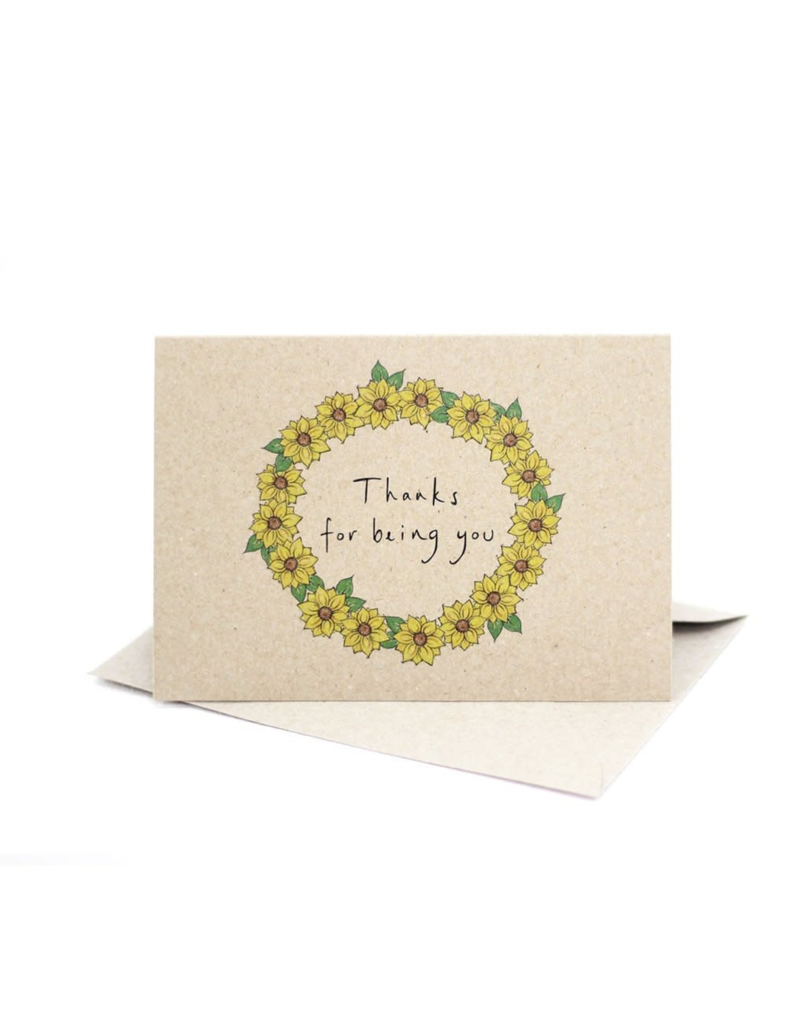 Deer Daisy Thanks for Being You Greeting Card