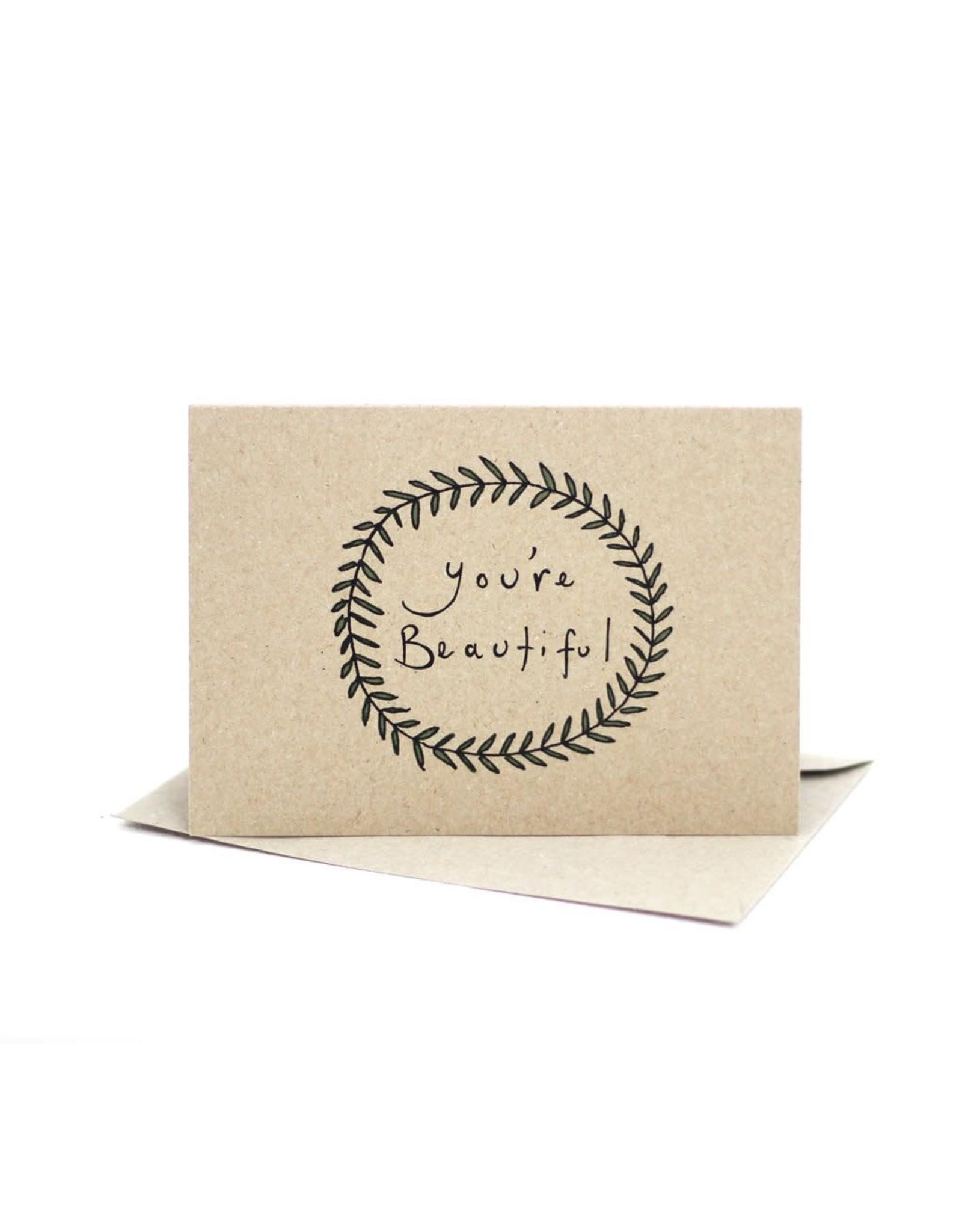 Deer Daisy You're Beautiful Greeting Card