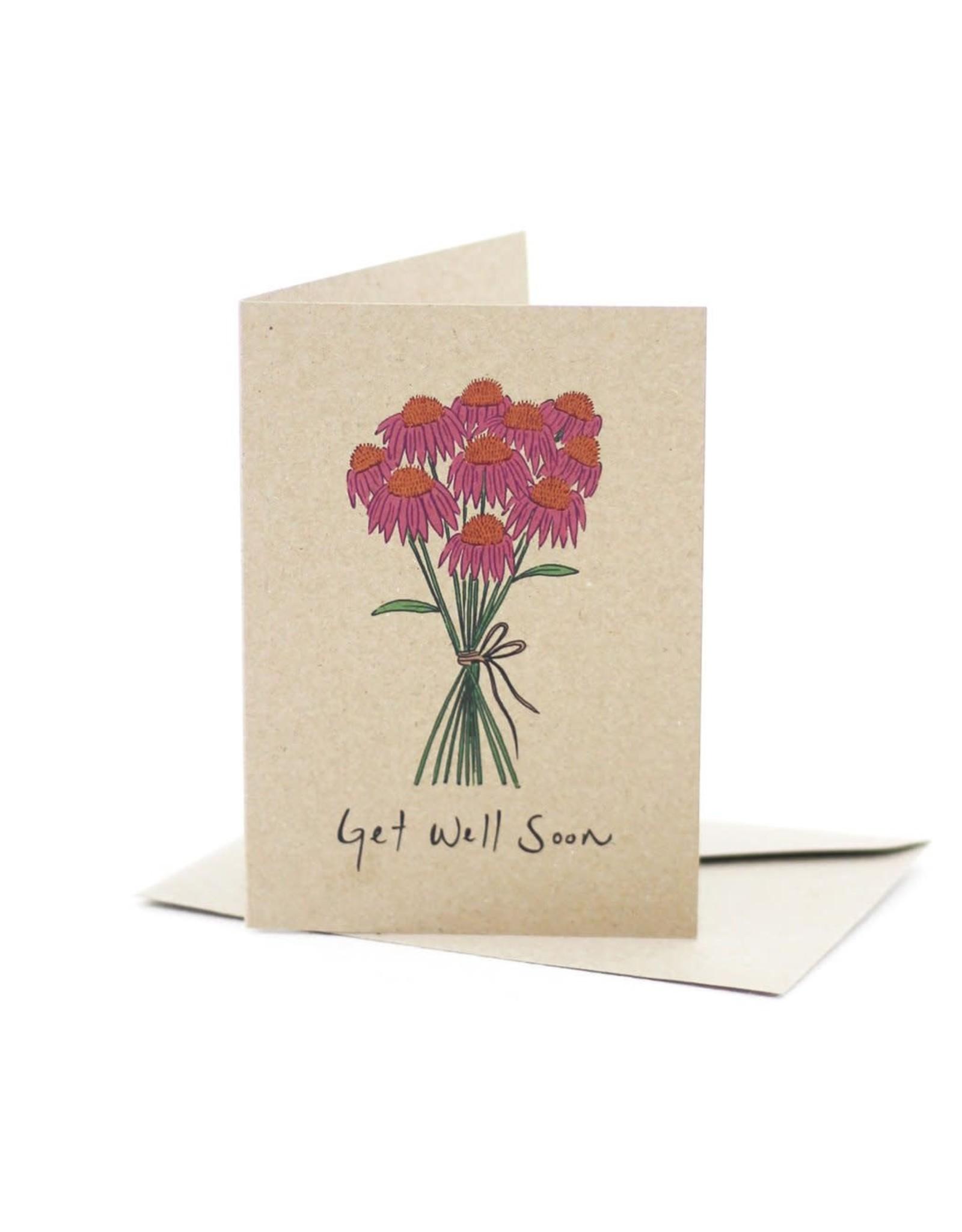 Deer Daisy Get Well Soon Greeting Card