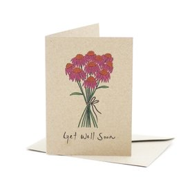Deer Daisy Get Well Soon Greeting Card
