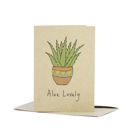 Deer Daisy Aloe Lovely Greeting Card