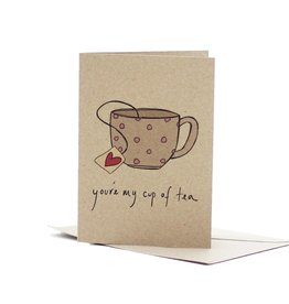 Deer Daisy You're My Cup of Tea Greeting Card