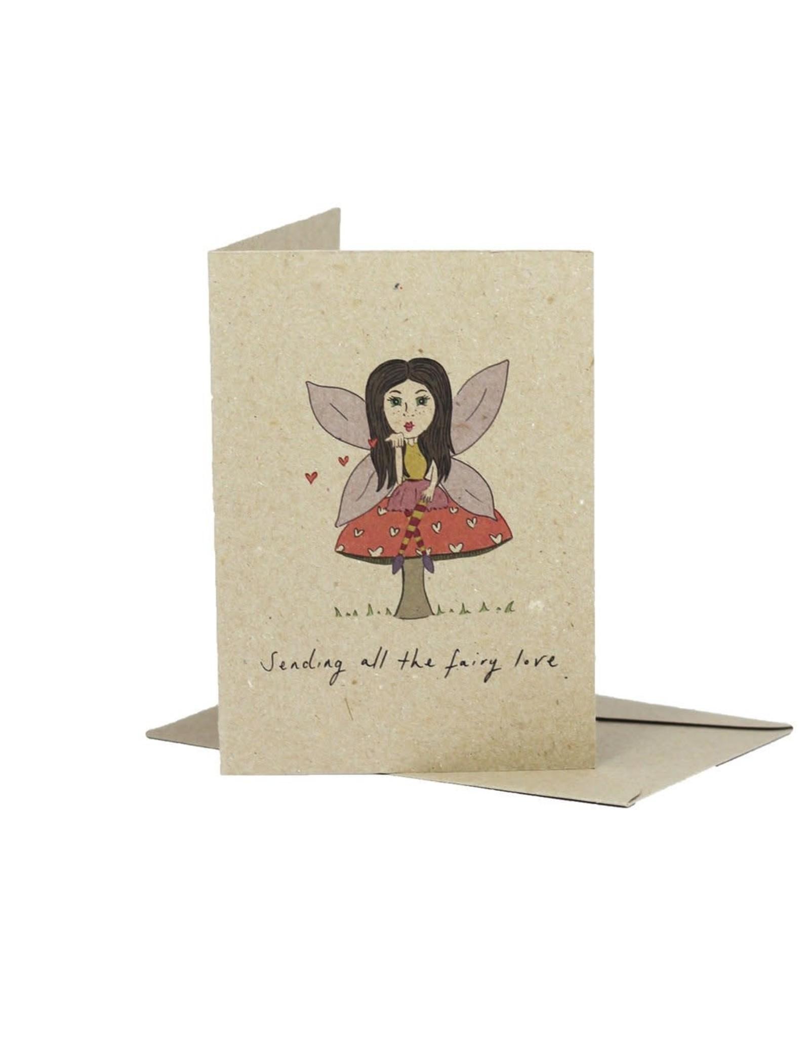 Deer Daisy Fairy Love Greeting Card