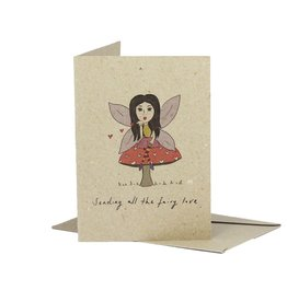 Deer Daisy Fairy Love Greeting Card