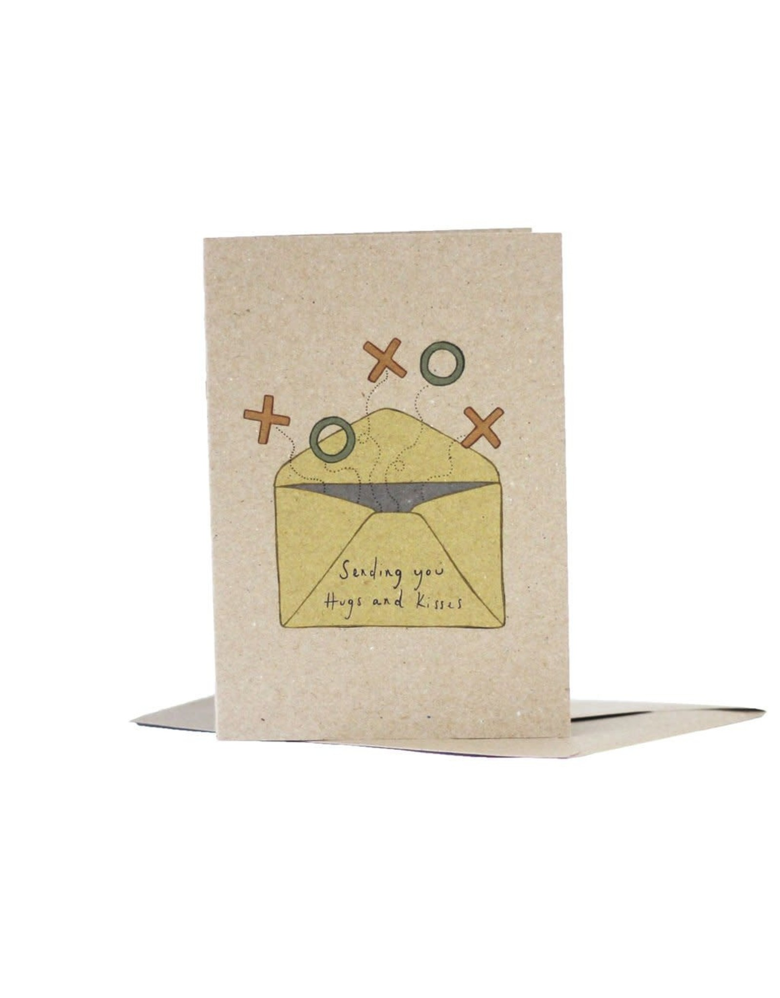 Deer Daisy Sending You Hugs & Kisses Greeting Card