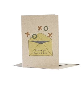 Deer Daisy Sending You Hugs & Kisses Greeting Card