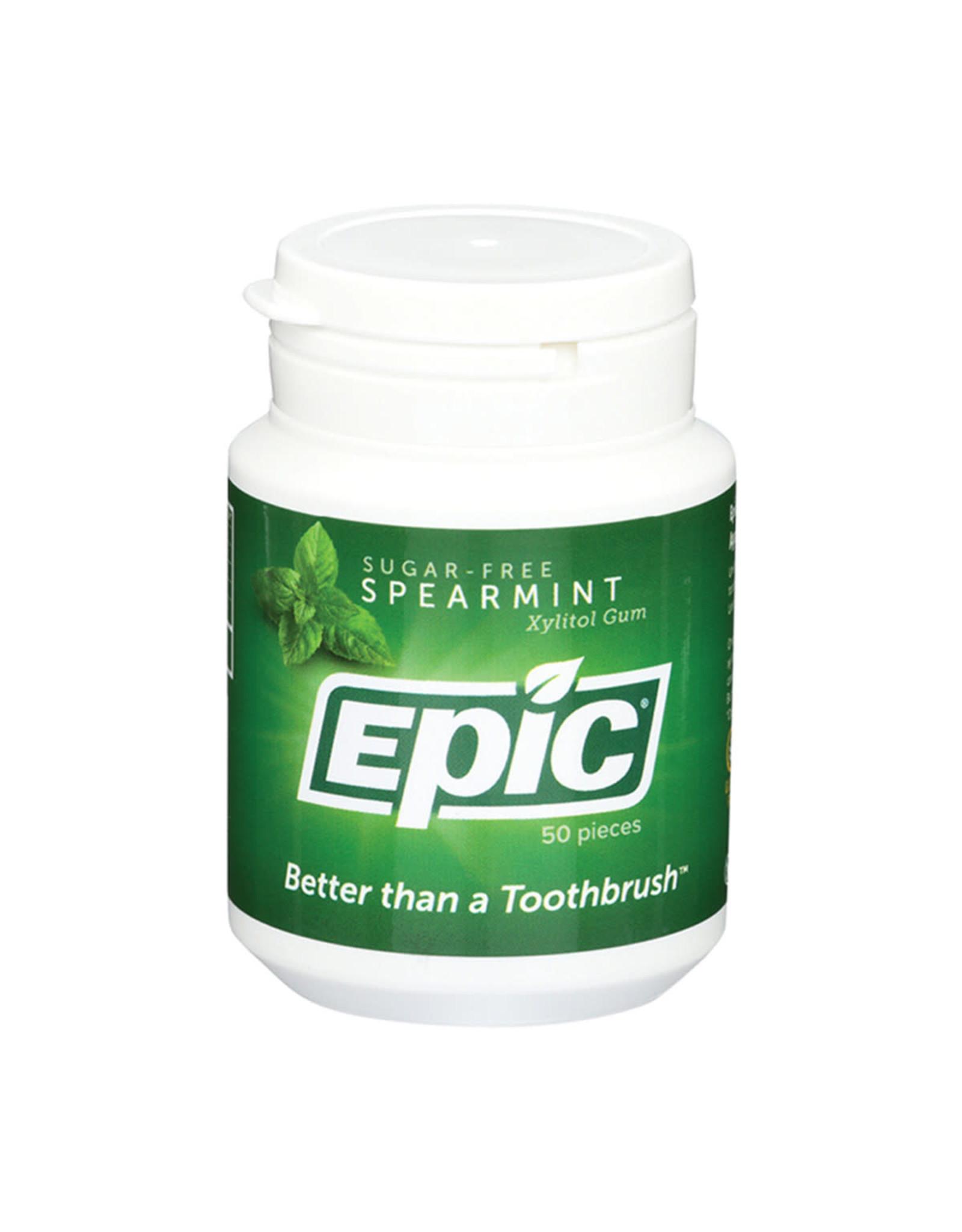 Epic Xylitol Dental Gum Spearmint 50pc Tub