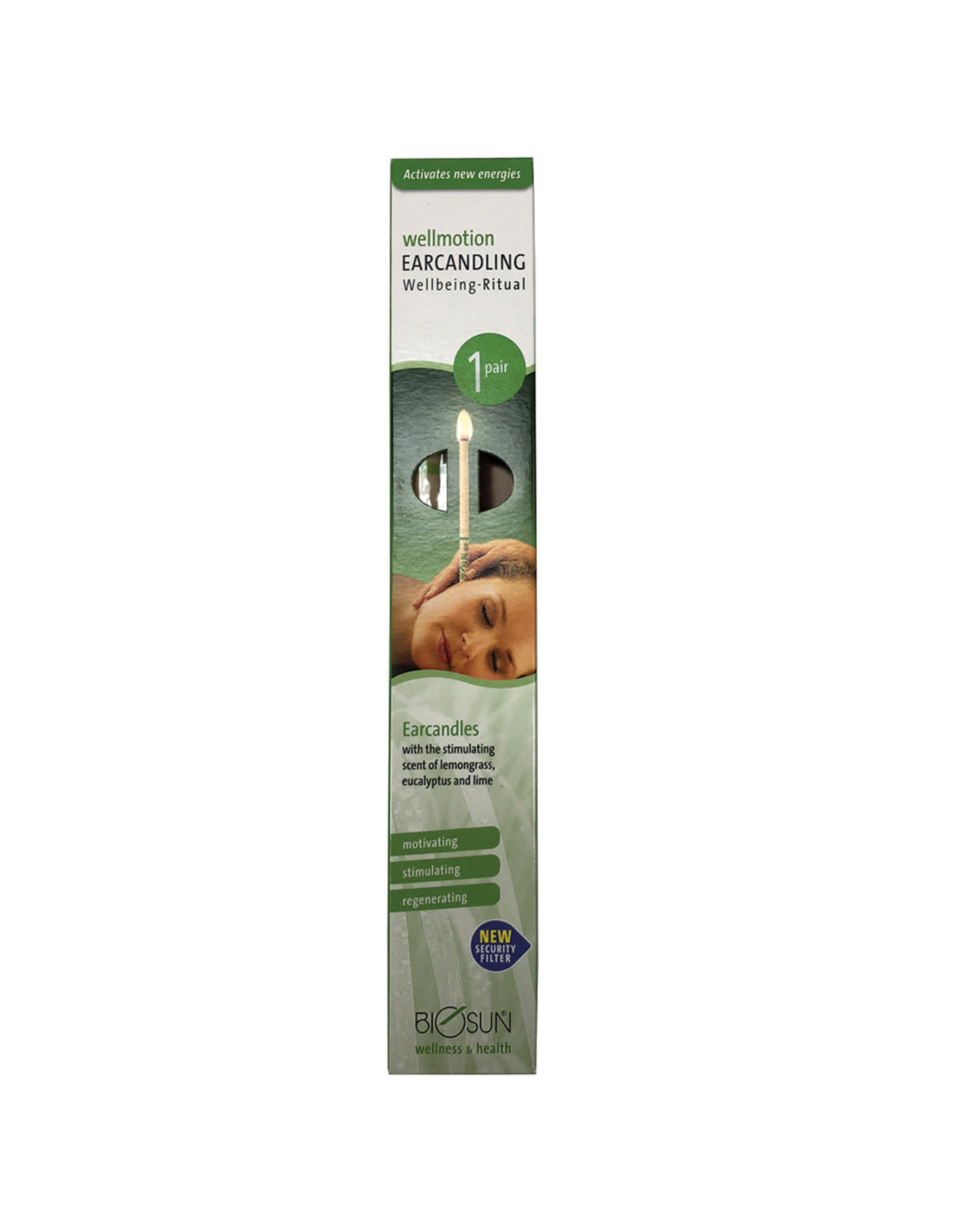 Biosun Hopi Ear Candles Eucalyptus and Lemongrass x 1 Pair