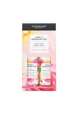 Tisserand Body Duo Rose and Geranium Leaf Gift Pack