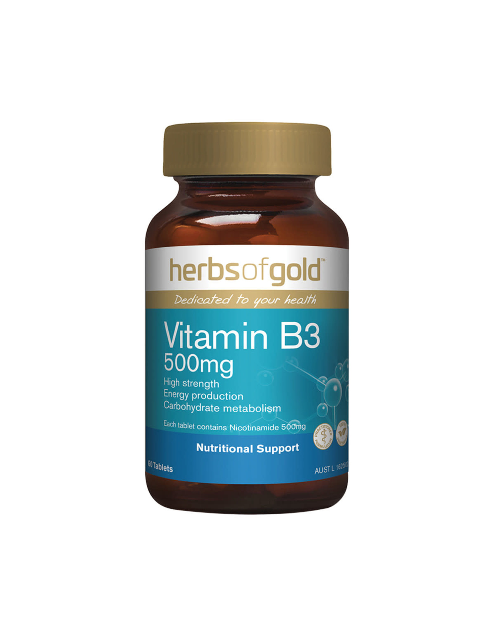 Herbs of Gold Vitamin B3 500mg 60c