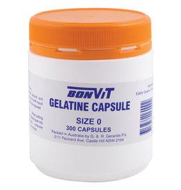 Bonvit Empty Capsules Size '0' Gelatine - 300c