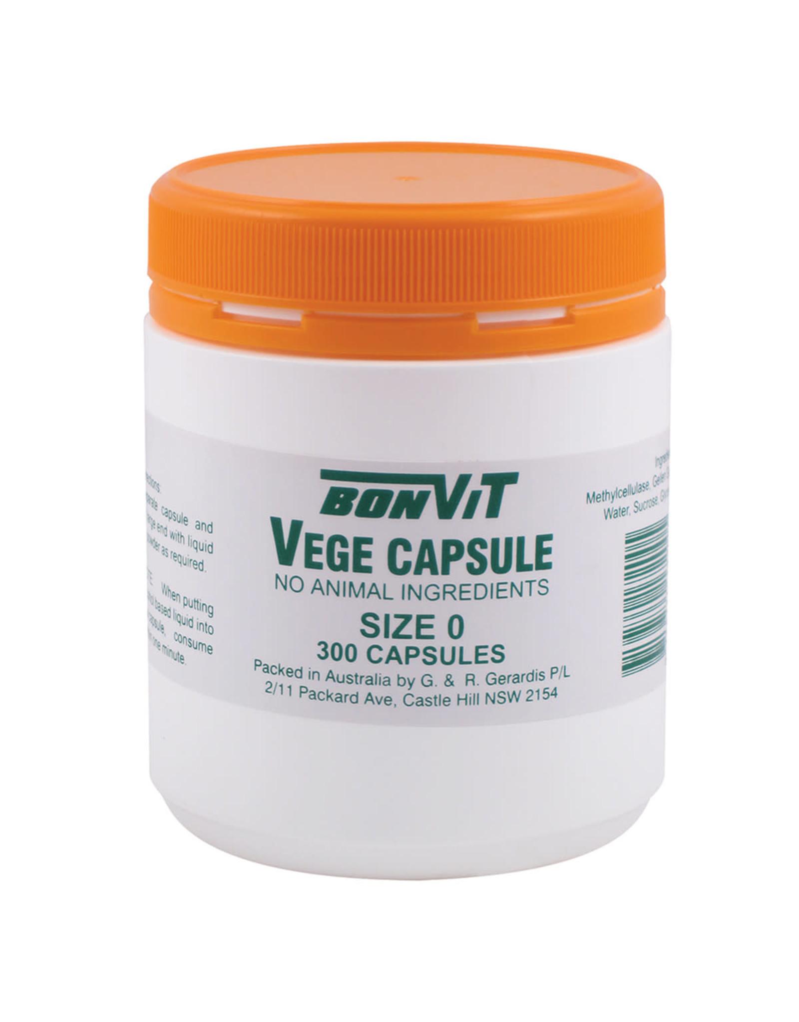 Bonvit Empty Capsules Size '0' Vege Caps - 300c