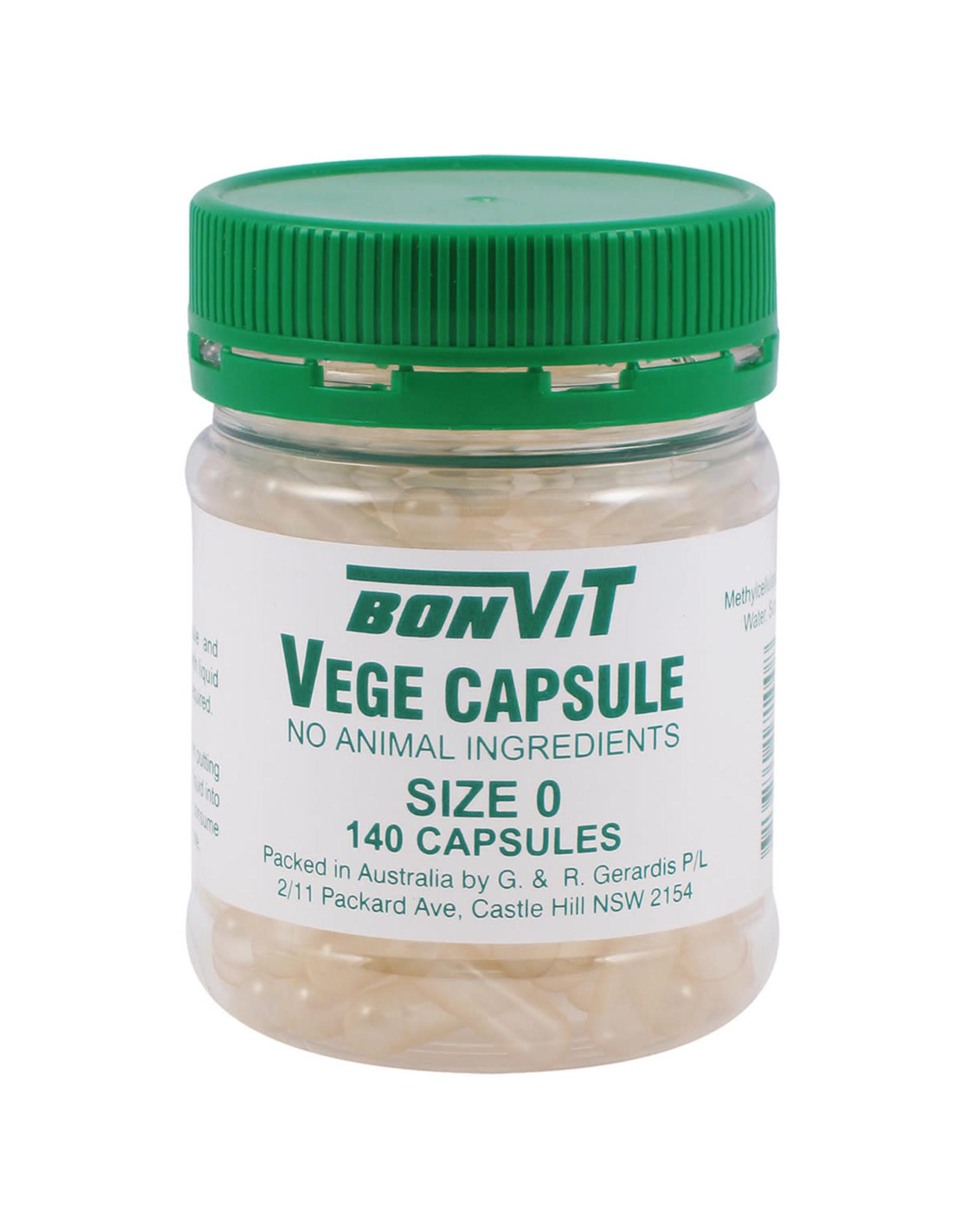 Bonvit Empty Capsules Size '0' Vege Caps - 140c