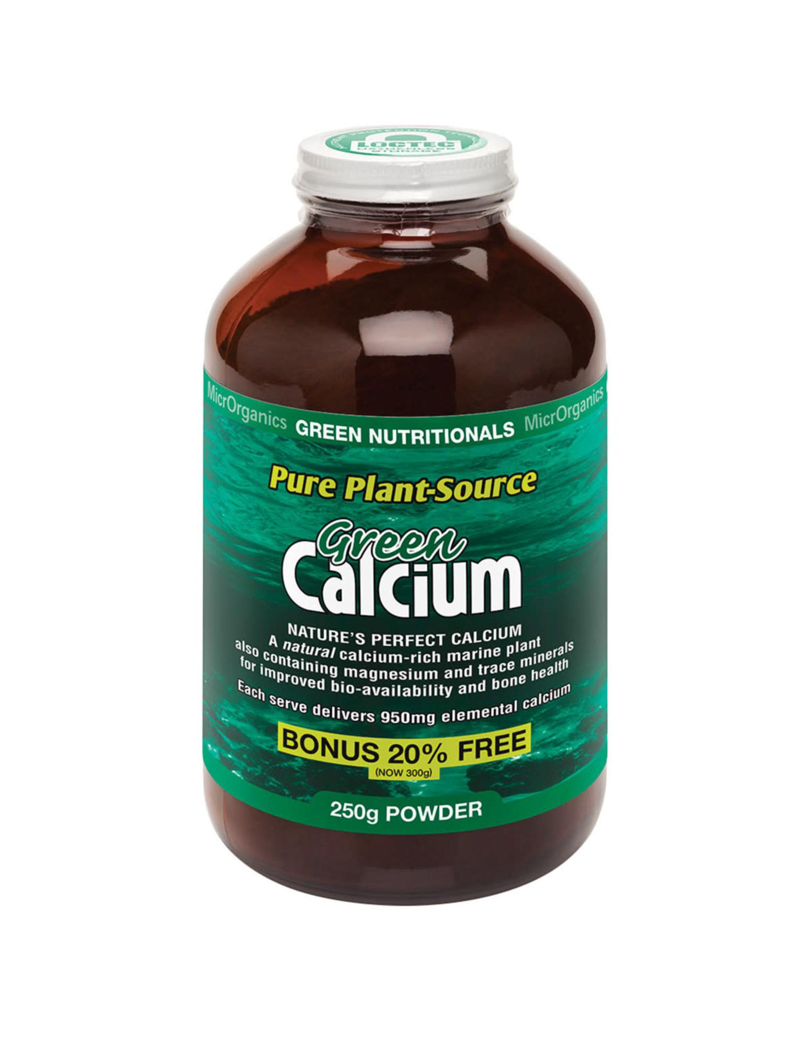 MicroOrganics Green Nutritionals Green Calcium (Pure Plant-Source) 250g