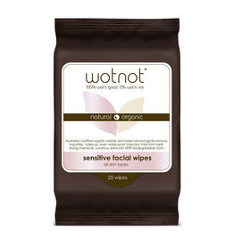 Wotnot Sensitive Facial Wipes 25s
