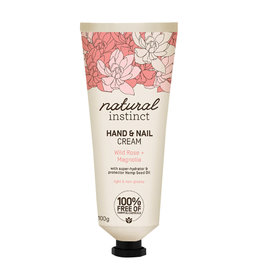 Natural Instinct Hand & Nail Cream Wild Rose & Magnolia 100g