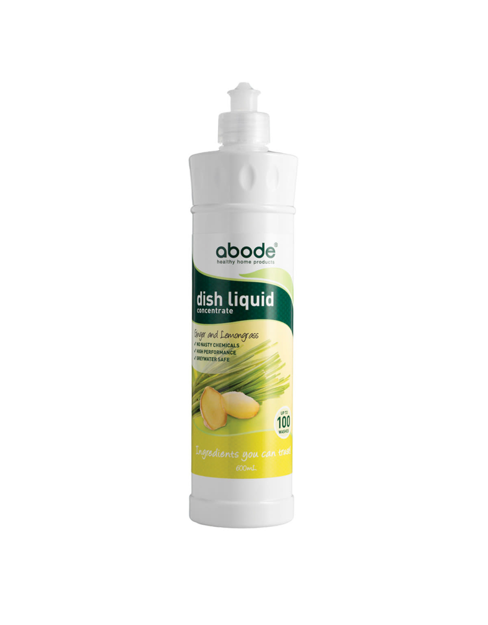Abode Dishwashing Liquid Ginger & Lemongrass