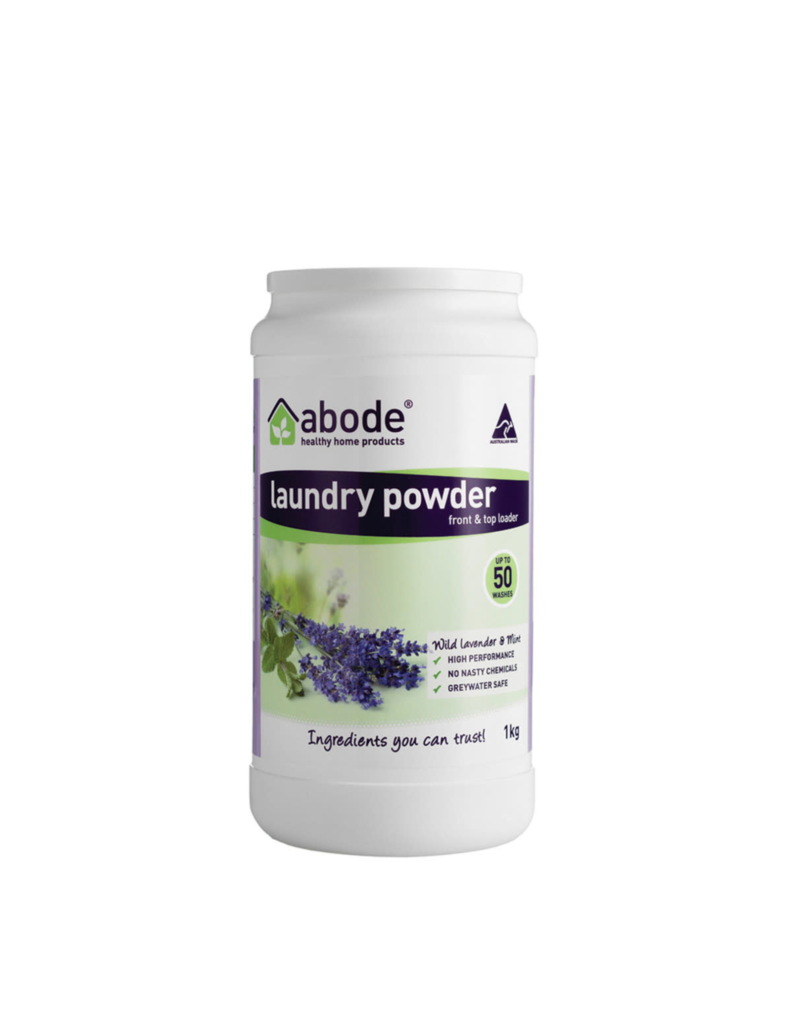 Abode Laundry Powder (Top) Wild Lavender and Mint 1kg
