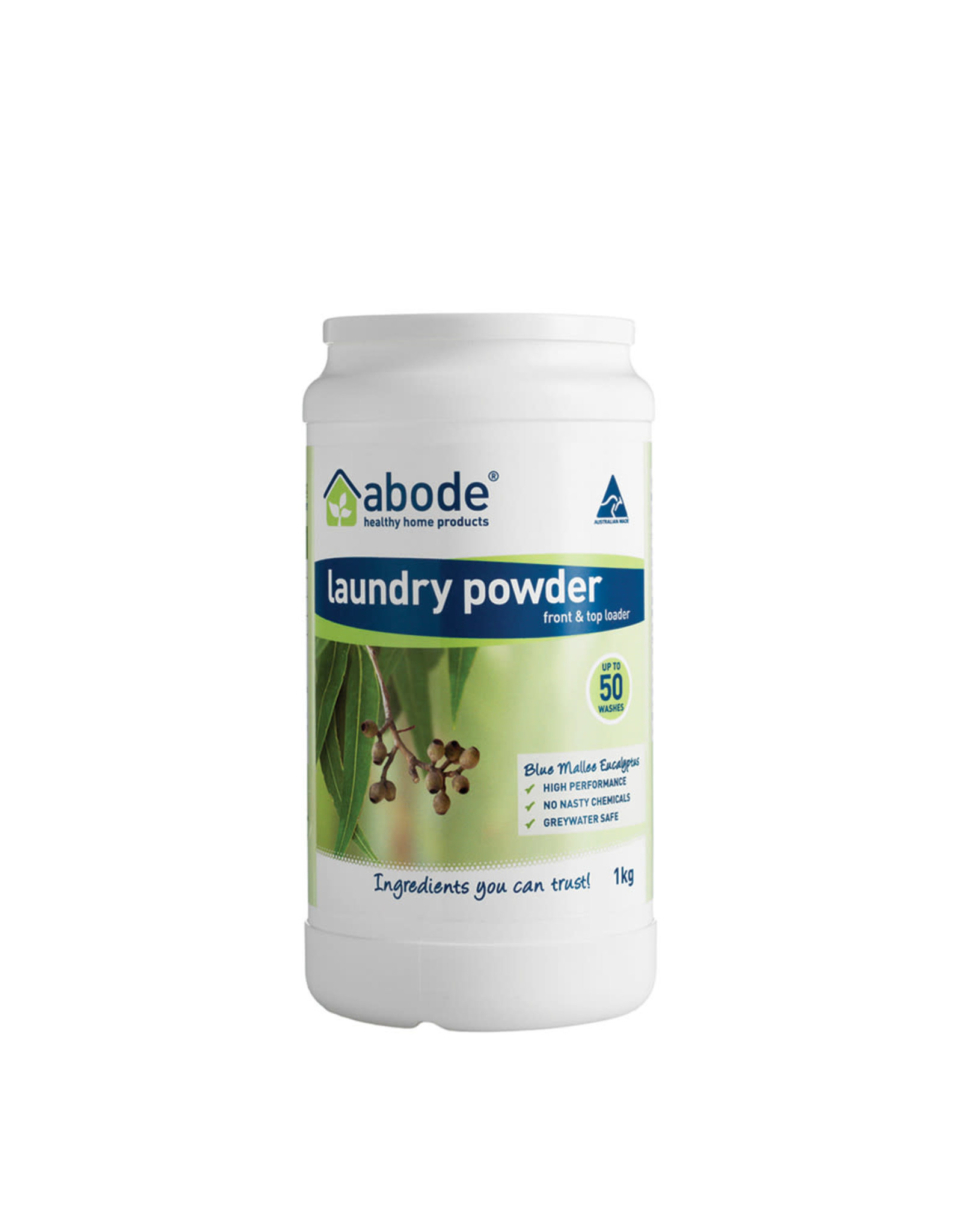 Abode Laundry Powder (Top) Blue Mallee Eucalyptus 1kg