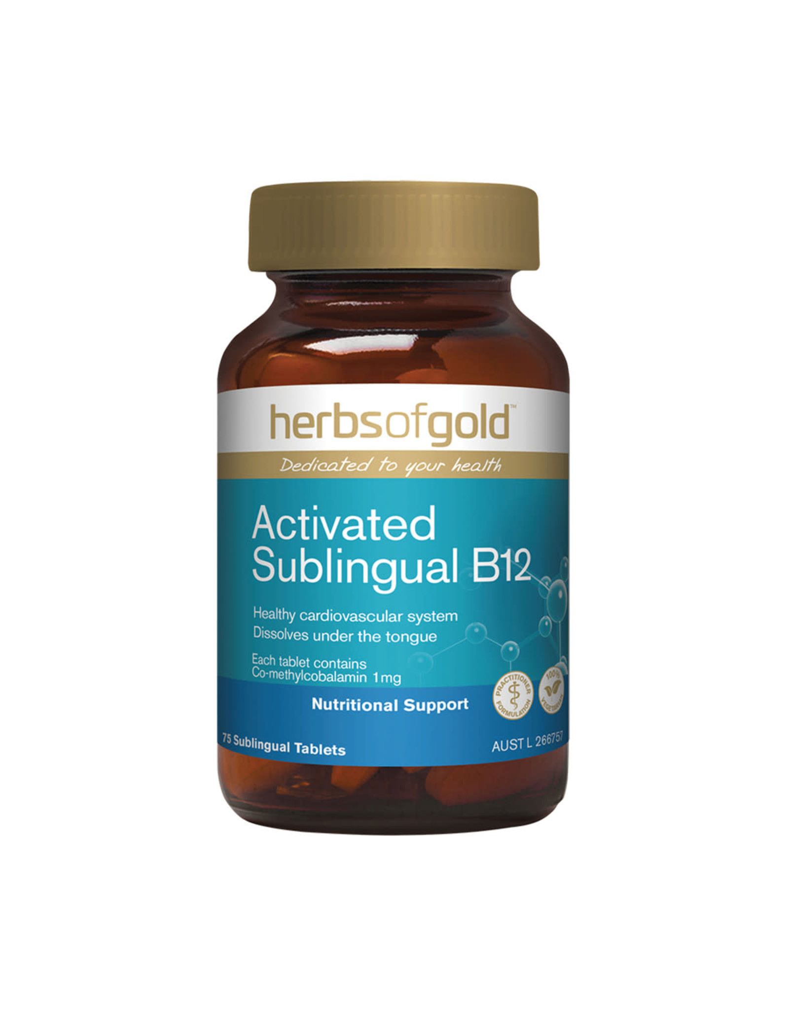 Herbs of Gold Activated Sublingual B12 75t