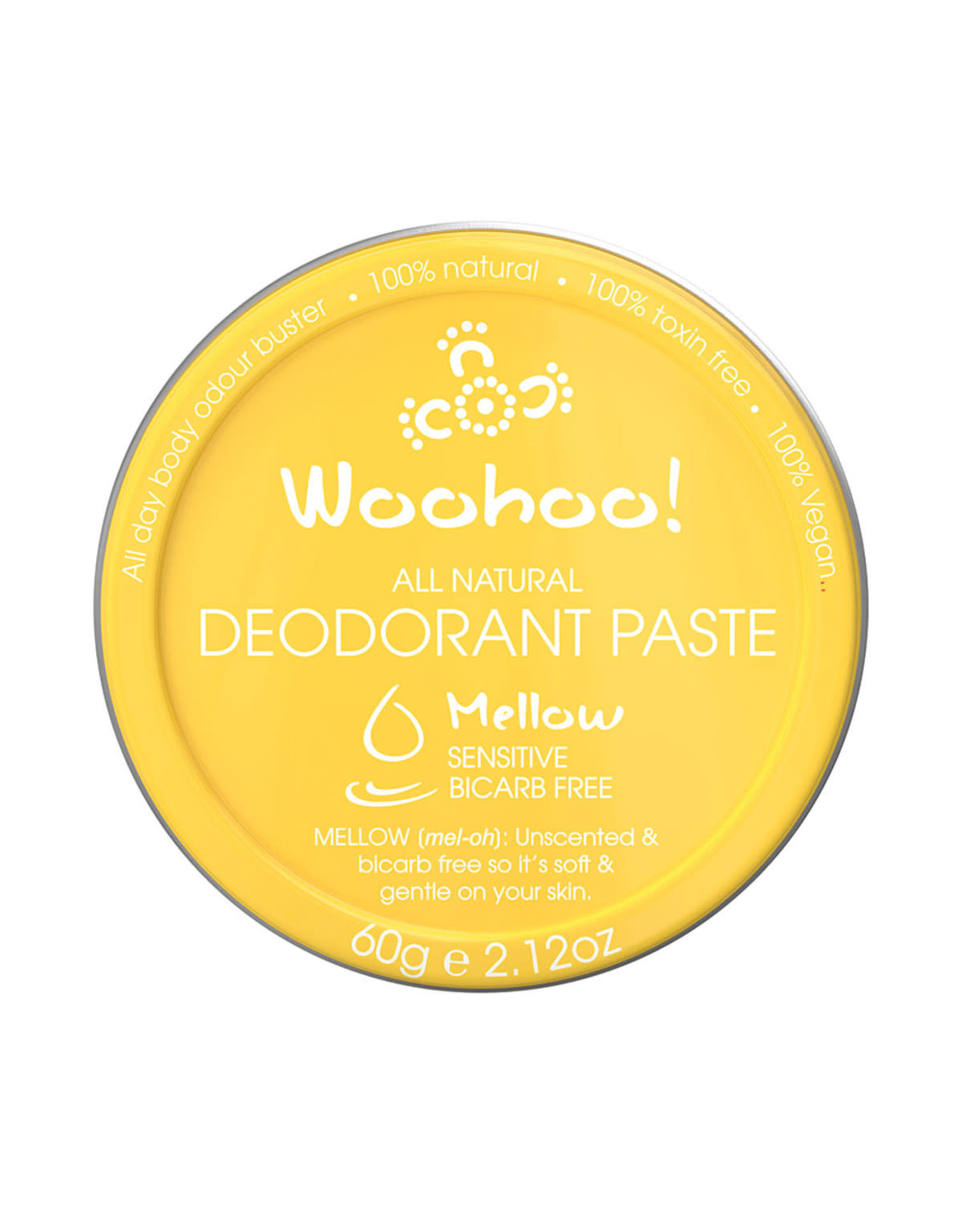 Happy Skincare Woohoo Deodorant Paste Mellow Tin - 60g